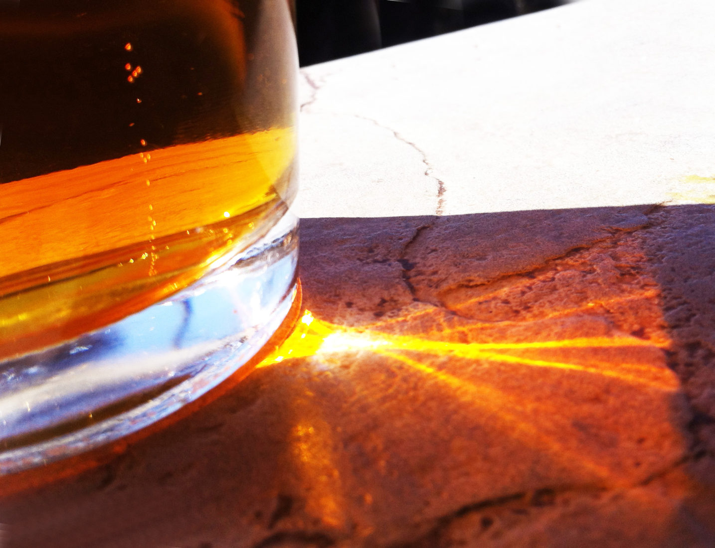 Beer in Sunlight, Sedona, AZ