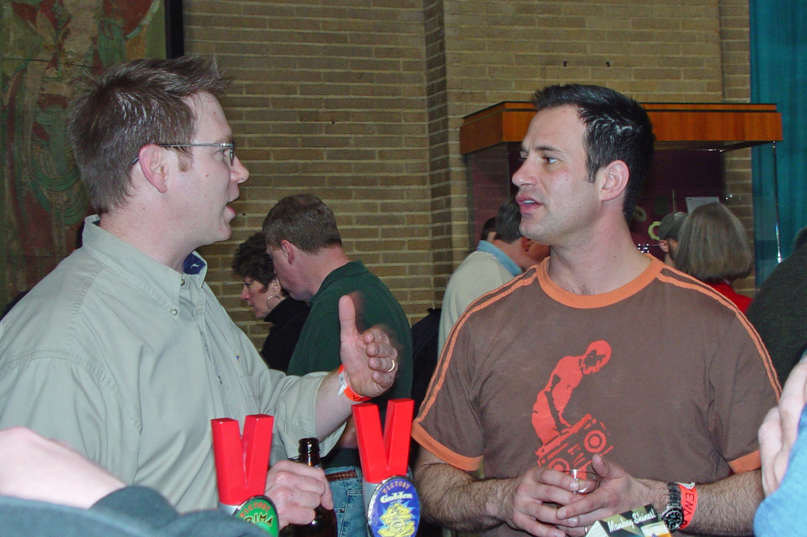 Sam Calagione of Dogfish and Bill Covaleski of Victory, at Penn Beer Tasting