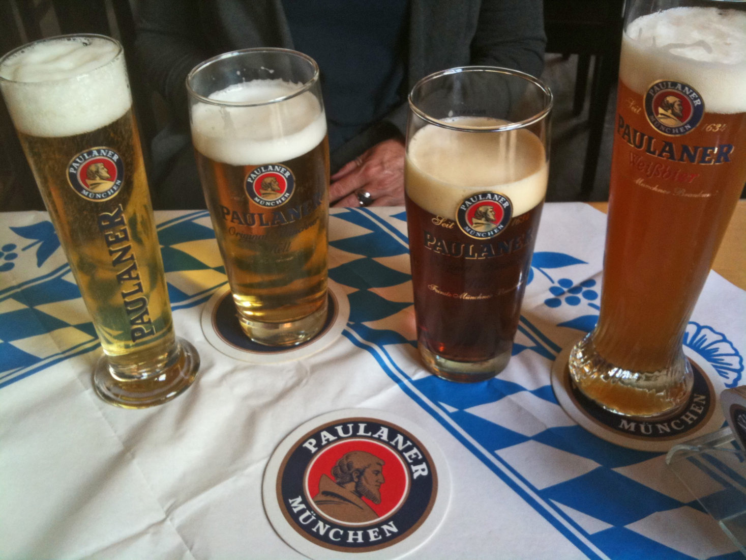 Paulaner Choices, Munich Germany