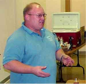 Tom Kehoe teaches class