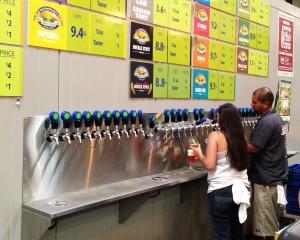 Soo many choices at Green Flash's tap room
