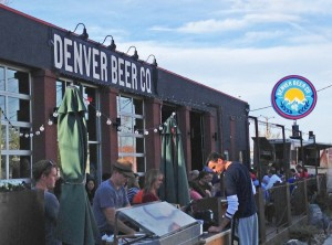 Fresh beer in the Colorado air at Denver Beer Co
