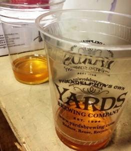 Precious tastes of experimental wild Yards beer