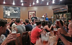 Graham leads us in a toast to craft beer!