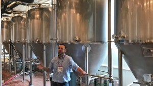 """John Kimes at the """"actual"""" Pabst Brewery"""