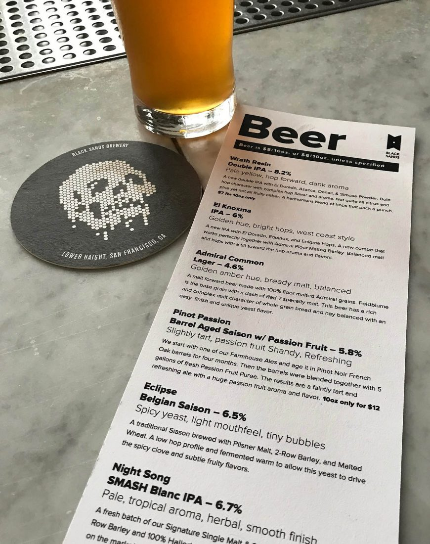 363. Black Sand Brewery, San Francisco CA, 2018